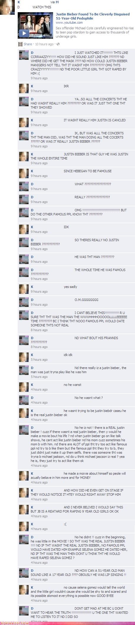 facebook FAIL funny Hall of Fame justin bieber - 5159948544