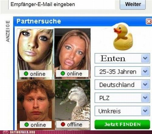 duck duckface offline online profile pic We Are Dating