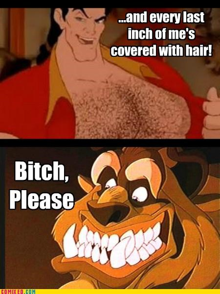 beast,Beauty and the Beast,best of week,cartoons,fur,hair ftw,The Beast