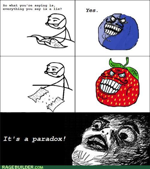 i lied paradox Rage Comics strawberry guy - 5160388096