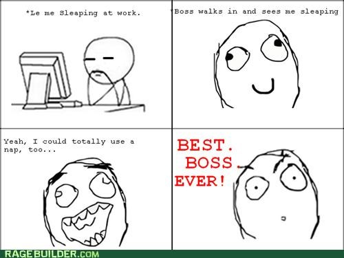 boss,Rage Comics,sleeping,work
