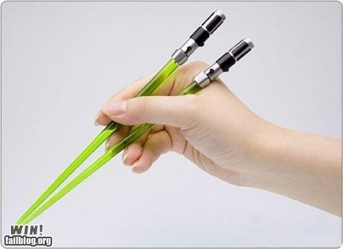 chopsticks,design,food,light saber,nerdgasm,star wars