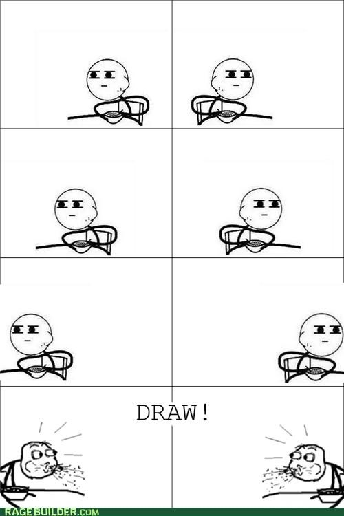 cereal guy,draw,Rage Comics,showdown