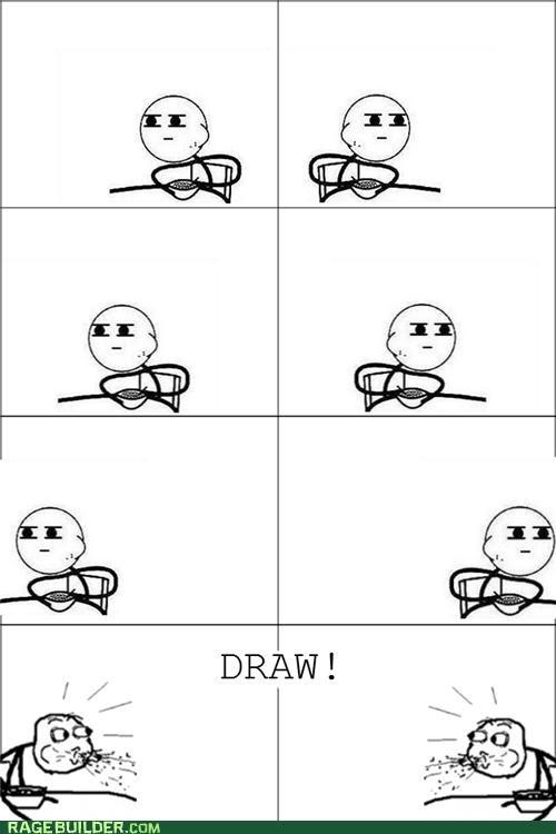 cereal guy draw Rage Comics showdown