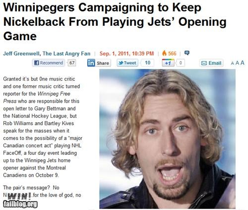 completely relevant news hockey nickelback Nickelback News winnipeg winnipeg jets winnipeg jets