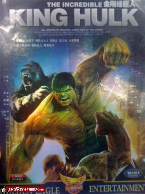 bootleg DVD dvd duesday hulk king kong knockoff Movie superheroes the incredible hulk - 5160789248