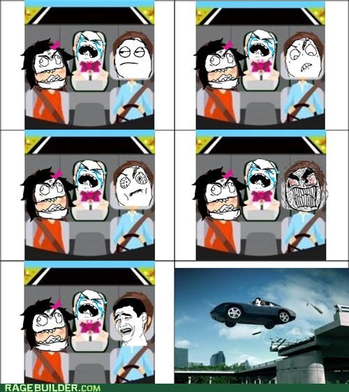 driving,kids,Rage Comics,road rage,wife