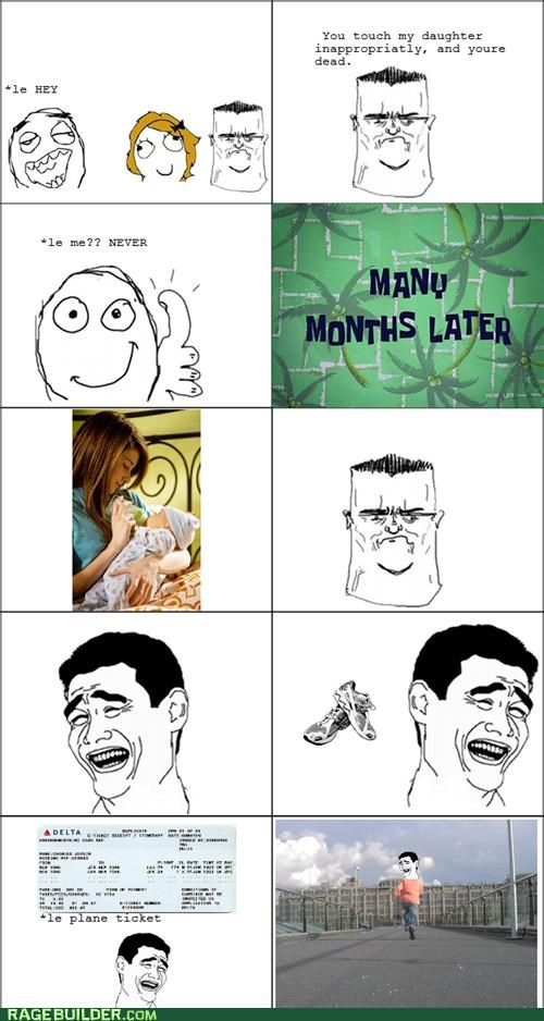 dad,daughter,Rage Comics,run away,sexytimes