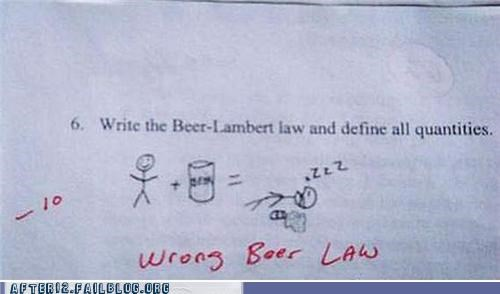 beer,equation,law,passed out,science