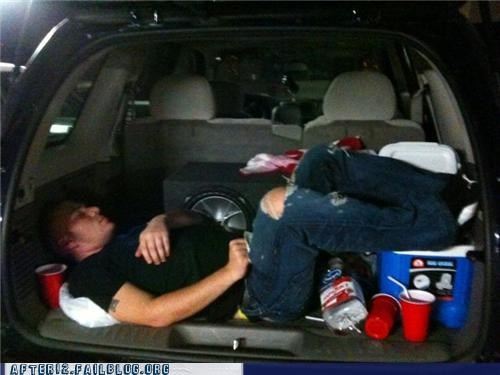 car,on the go,passed out,portable,trunk