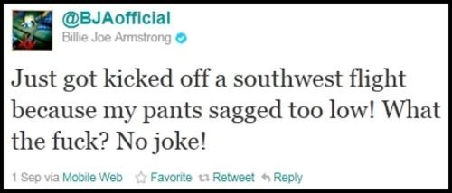 billie joe armstrong southwest airlines Unfriendly Skies - 5162966272