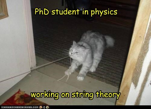 PhD student in physics working on string theory