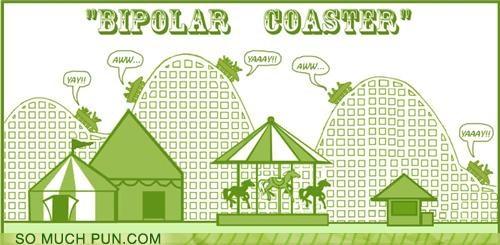 bipolar Hall of Fame literalism random roller roller coaster similar sounding