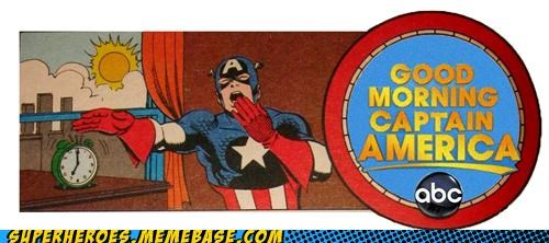 america art captain america good morning Super-Lols - 5163411200