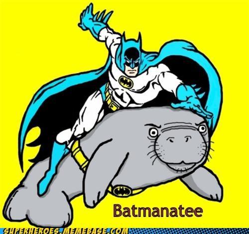 Awesome Art batman manatee pun - 5163411968