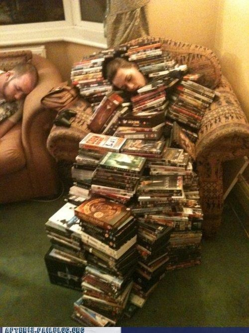 dvds,passed out,thousands of them