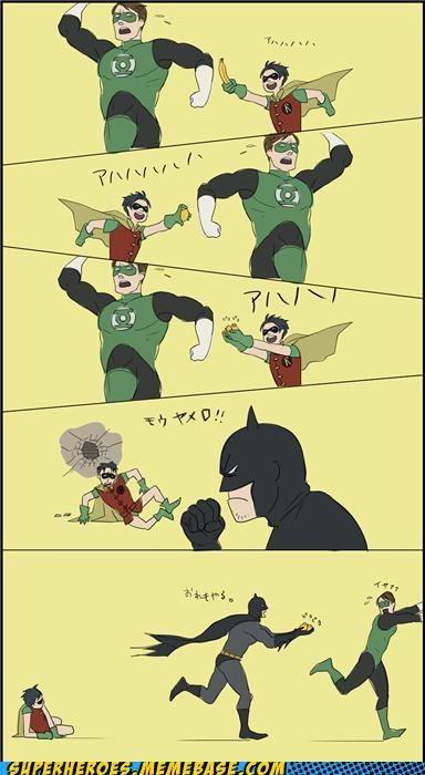 Awesome Art batman fun Green lantern robin