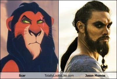 beard beards cartoons disney glare Jason Momoa lion king scar - 5165070592
