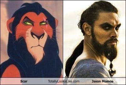beard beards cartoons disney glare Jason Momoa lion king scar - 5165070592