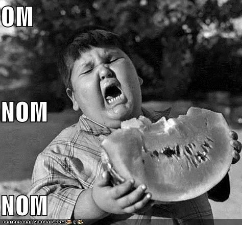 best of week food kid miniderp om nom watermelon - 5165533952