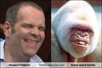 gorilla howard folderer laughing teeth