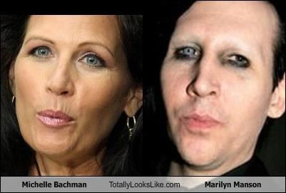 marilyn manson,Michele Bachmann,musicians,political,politician