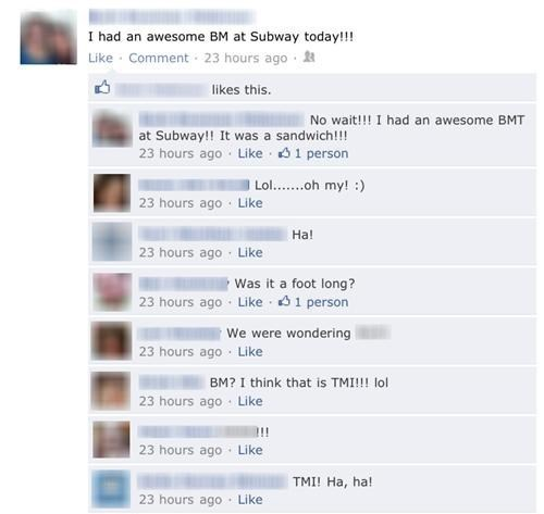 subtember bowel movements Subway pooping failbook - 5166410752