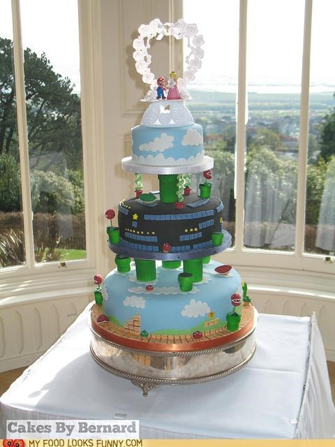 cake,mario,nintendo,tiers,wedding