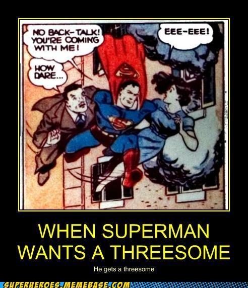 sexy times,Super-Lols,superman,threesome