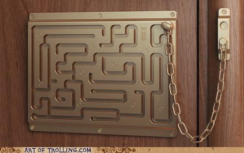 door IRL lock maze puzzle - 5167186944