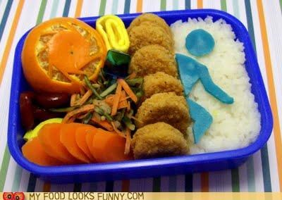 bento game nuggets orange Portal rice vegetables video game - 5167373056