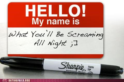 greetings name tag names one liners pick-up lines We Are Dating - 5167966208