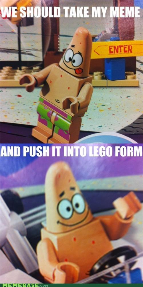 cartoons lego patrick pushing patrick SpongeBob SquarePants toys - 5168262656