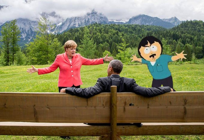manspreading g7 summit come at me bro angela merkel barack obama g7
