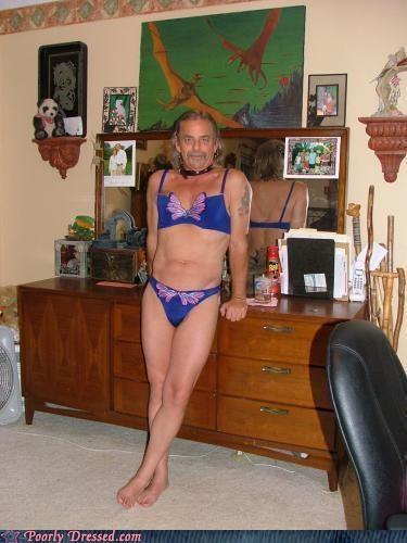 bikini,cross dressing,goatee,lingerie