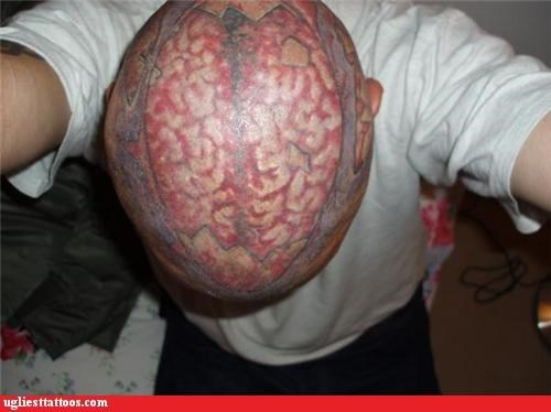 Ugliest Tattoos - internal organs - Bad tattoos of horrible fail ...