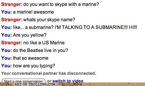 beatles marine Omegle skype submarine - 5169297408