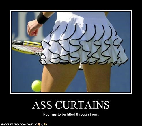 ass curtains double entendres innuendo sexy skirts tennis Up Next in Sports women - 5169357824