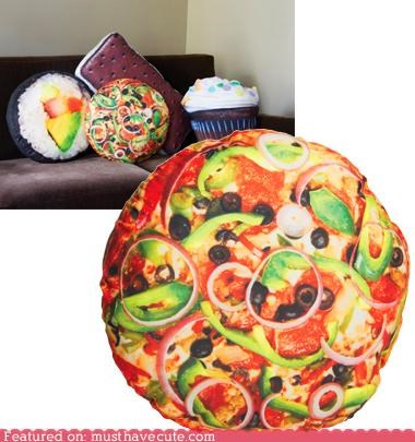 couch decor Pillow pizza - 5169900544