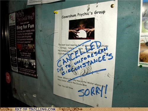 cancelled comic sans IRL psychic sign - 5170503936
