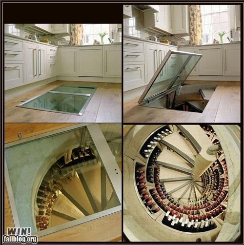 alcohol,basement,design,home,staircase,wine,wine cellar