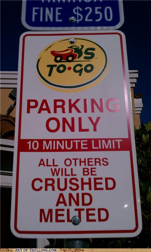 chilis,IRL,parking,sign,wtf