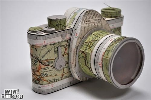 art camera design model paper sculpture