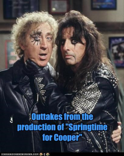 actors,alice cooper,best of the week,gene wilder,Hall of Fame,makeup,musicians,outtakes,roflrazzi,springtime for hitler,the producers