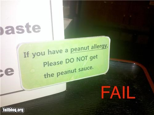 allergic failboat g rated peanuts restaurant signs