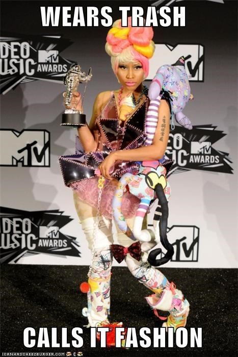 celeb,fashion,funny,mtv,Music,nicki minaj,vma,wtf