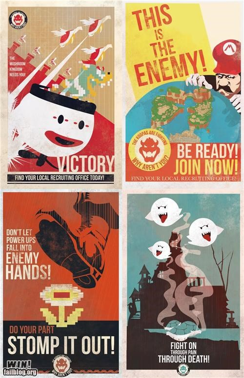 bowser,Historical,mario,nitendo,political,poster,propaganda,super mario,video games