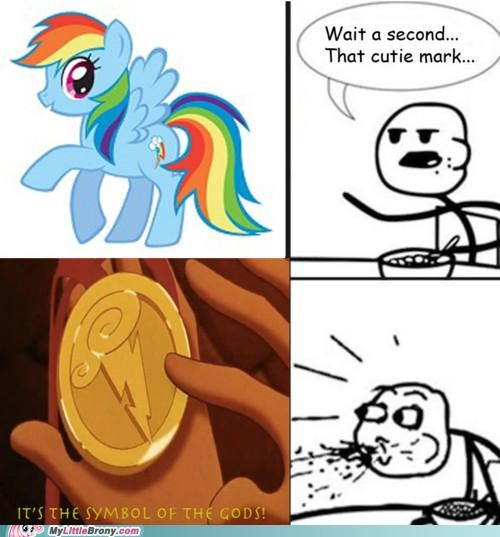 cereal guy,cutie mark,meme,rainbow dash,symbol of the gods