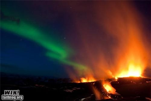 aurora borealis,mother nature ftw,nature,pretty colors,volcano
