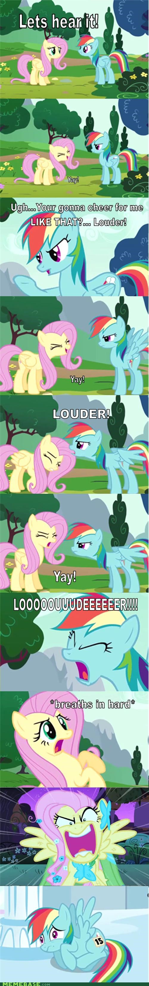 best of week comic comics fluttershy louder rainbow dash yay - 5173828096